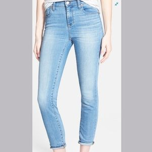 MADEWELL High Riser Crop Jeans in Mazzy Wash